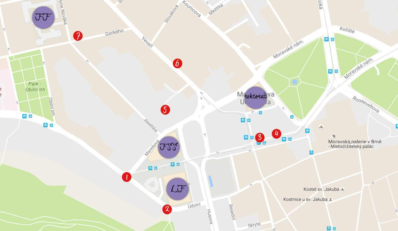Mapa s kavárnami