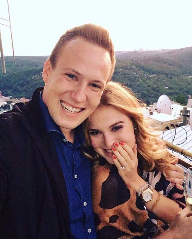 Studentka Anna Herfotová se svým budoucím manželem. Foto: Martin Svoboda