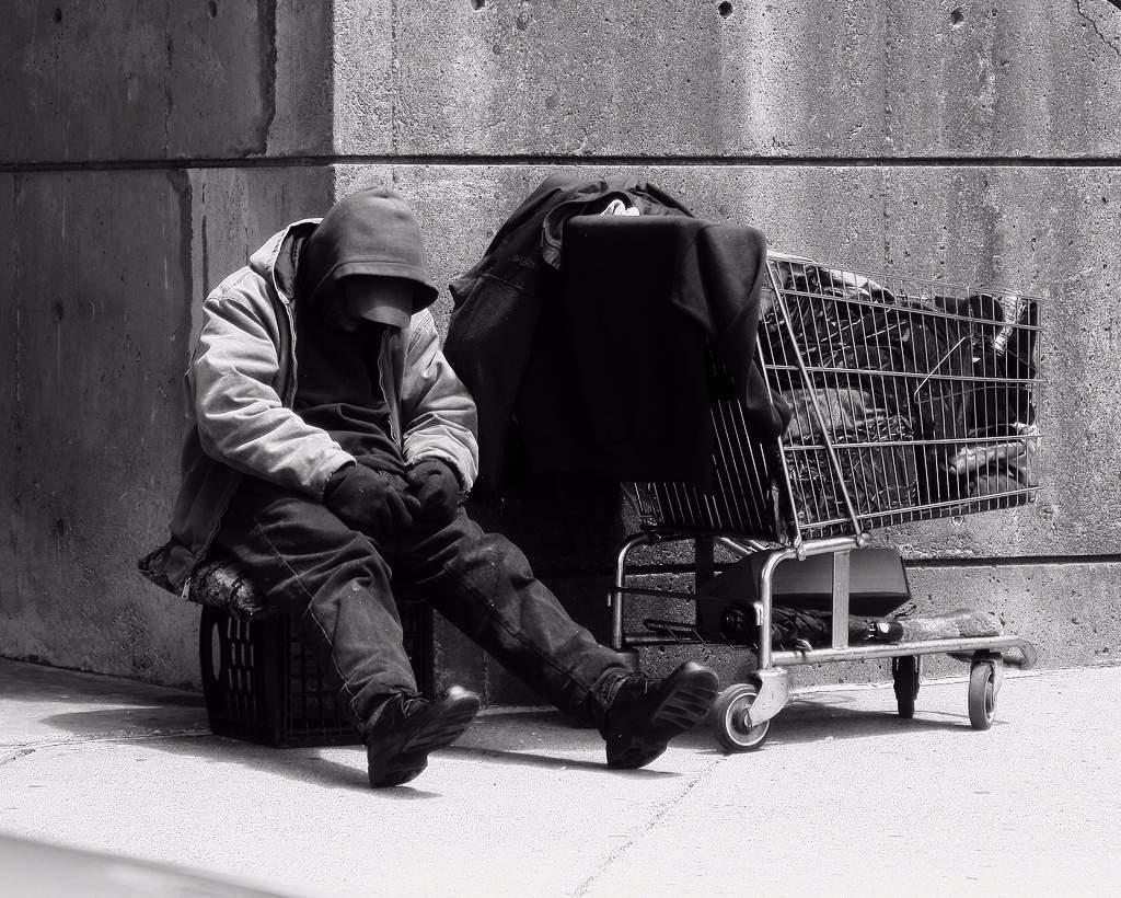 Homeless Veteran on the streets of Boston, MA. Foto: Matthew Woitunski