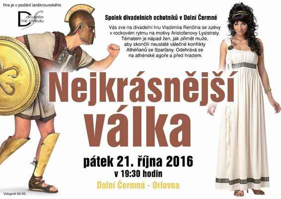 Nejkrásnější válka - představení  Divadla Ve středu 21.10.2016