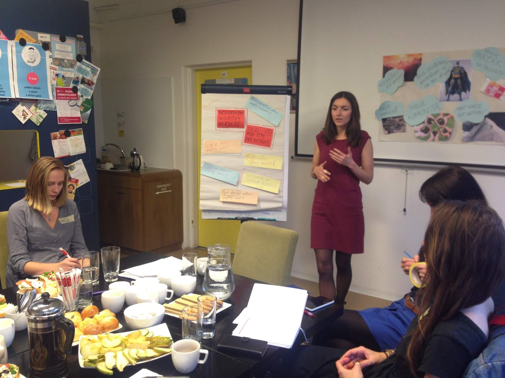Odborná referentka programu Erasmus+ mládež a zároveň vedoucí workshopu Markéta Konečná. Foto: Eliška Pospíšilová