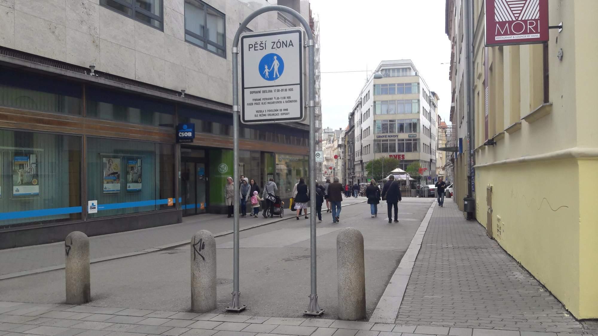 Plán mobility se zaměřuje i na chodce a pěší zóny v Brně. Foto: Pavlína Černá