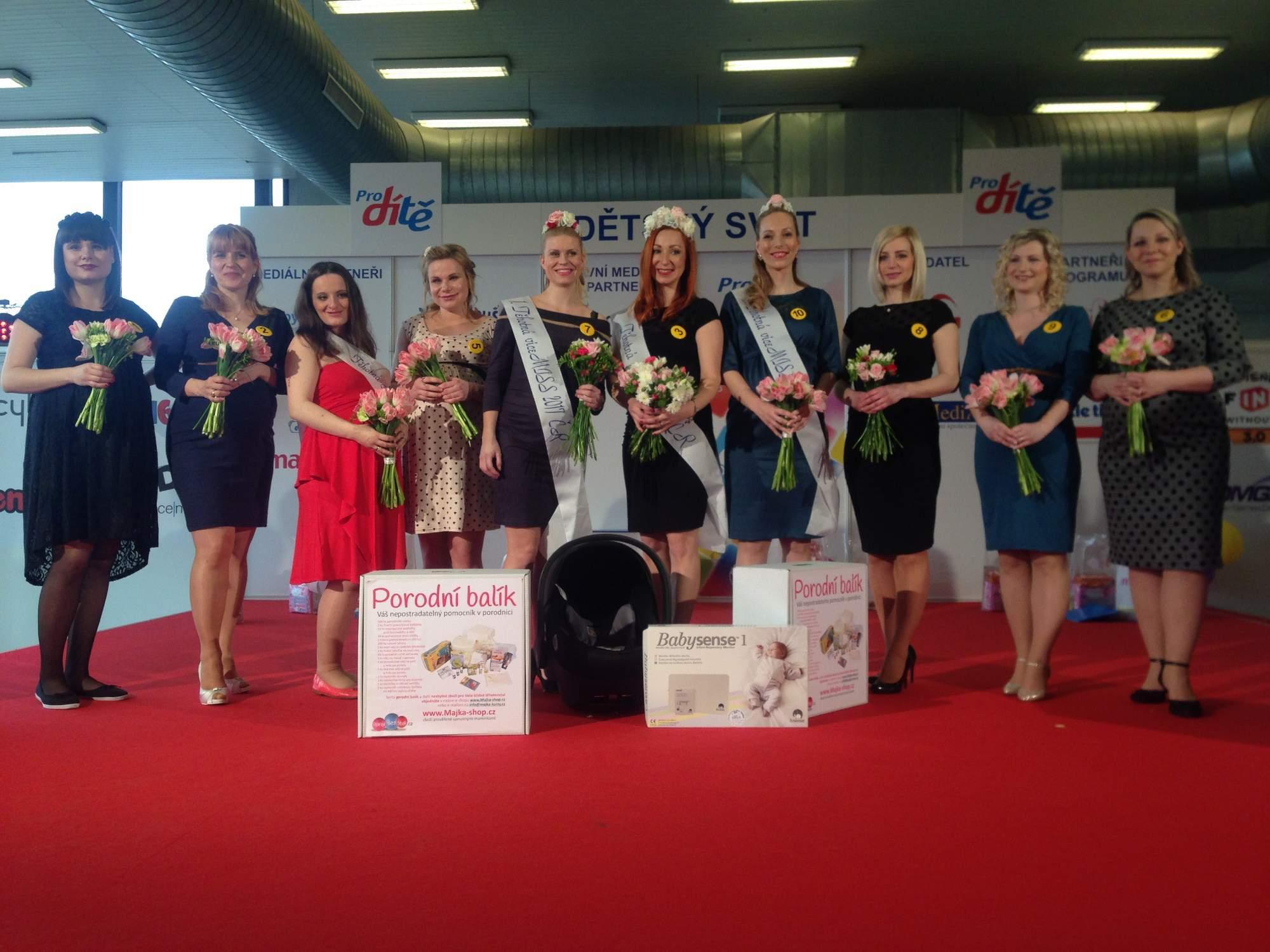 Finalistky soutěže Těhotná Miss. Foto: Eliška Pospíšilová