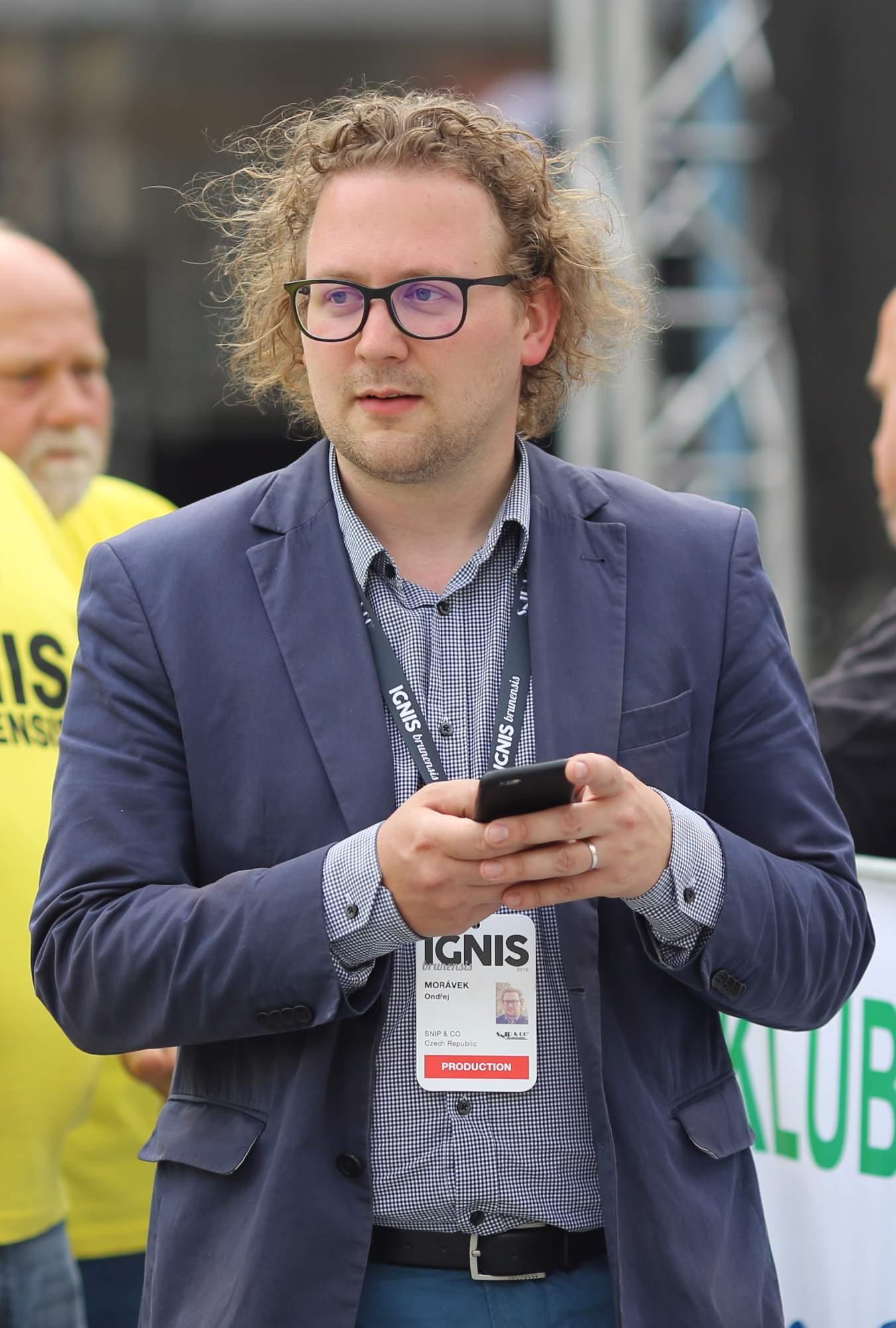 Ředitel marketingu a obchodu Ondřej Morávek ze společnosti Snip & Co, která je hlavním producentem a autorem Ignis Brunensis. / Foto: Z archivu Ondřeje Morávka