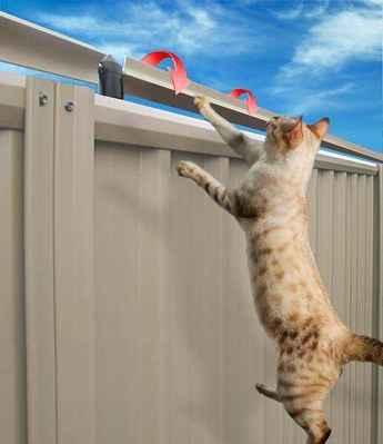 Systém protáčení - jde o to, aby se  trubka na tyči otáčela a kočka se nemohla zachytit - viz další obrázky ...