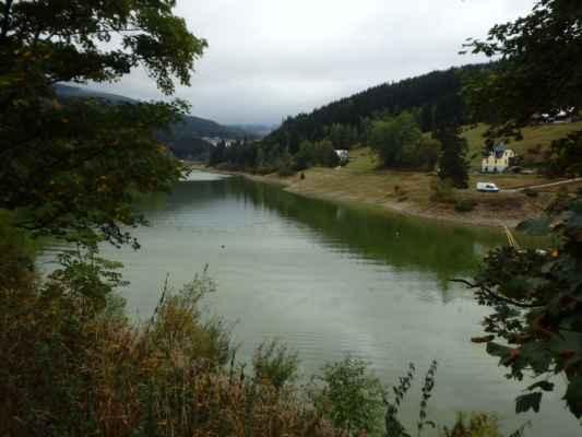Labská přehrada, skoro bez vody