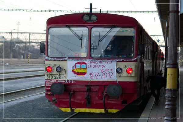 Slavnostní jízda ke 140. výročí železniční tratě 137 - Před odjezdem z Chomutova