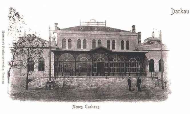 ARCHIVNÍ FOTO: Lázně Darkov - Společenský dům 1905. Tenkrát to byl nový dům, dnes se darkovským lázním říká STARÉ LÁZNĚ, protože v Karviné-Hranicích byl vybudován novější areál patřící k Lázním Darkov.