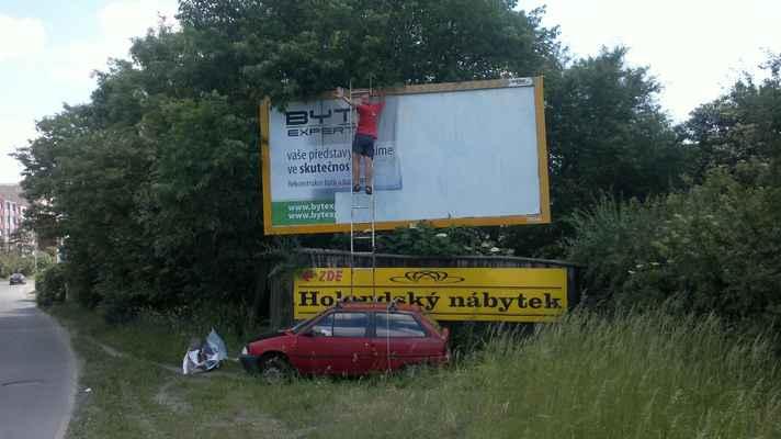 Náš billboard Vás vítá , Práčská 14, Praha 10 - Záběhlice