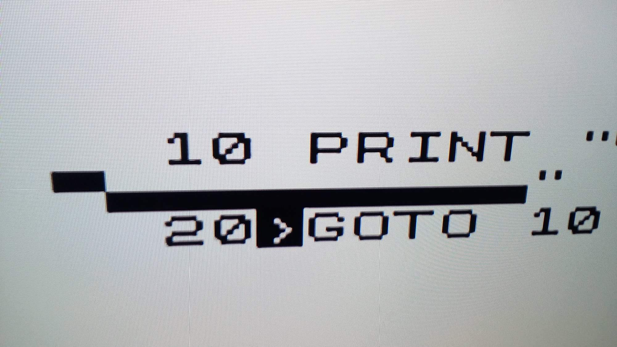 ZX81 on TV