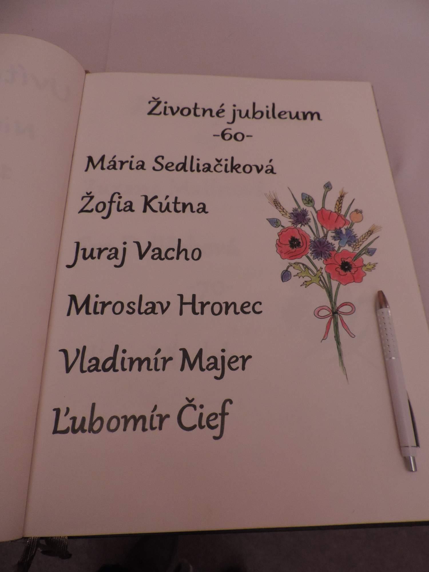 3e96bb1d5 Životné jubileá a uvítanie detí do života - 25.11.17 v Ľubietovej ...