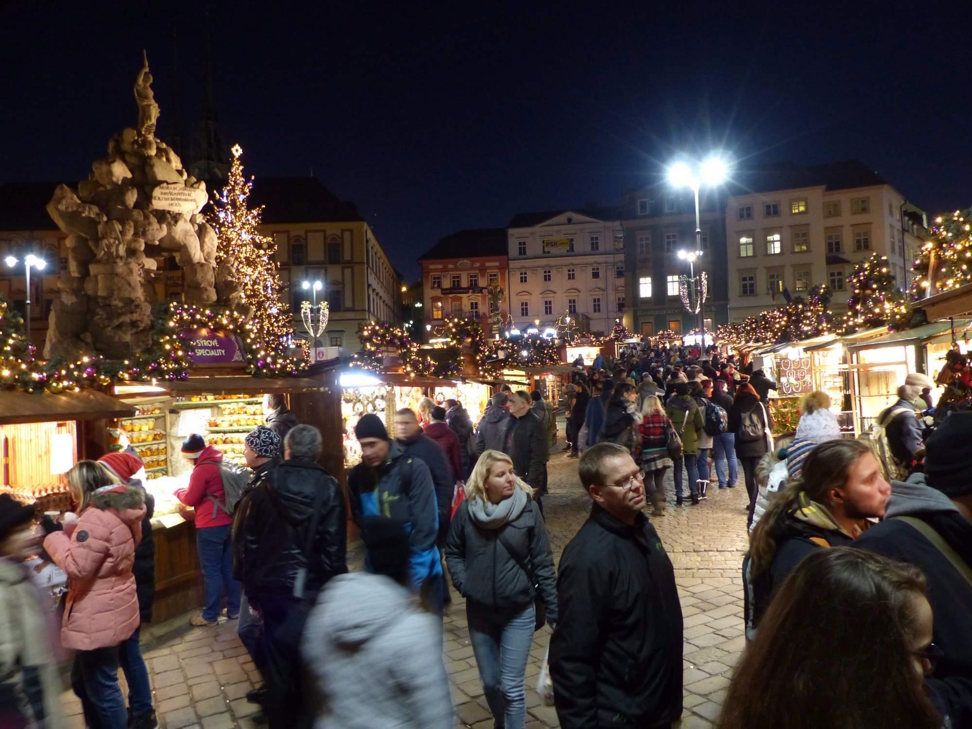 Trhy na brněnském Zelném trhu (Andrea Šebelová)