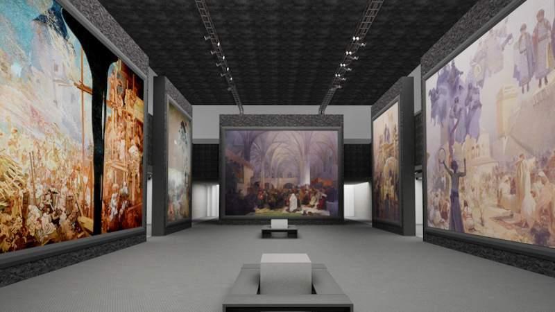 Vizualizácia výstavy Dva svety. Autor: BVV