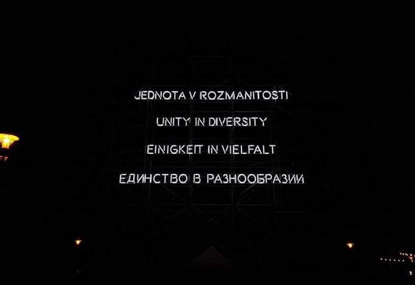 Heslo minulého ročníka festivalu Meeting Brno. Foto: Simona Gálová